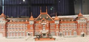 「期間限定展示 船岡和夫 紙バンド(紙ひも)で作った懐かしの鉄道模型」の写真